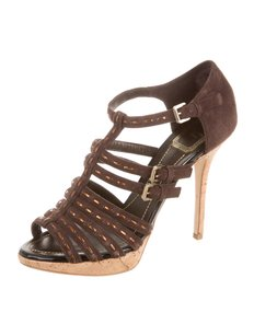 Dior Caged Strappy 8.5 Brown Sandals