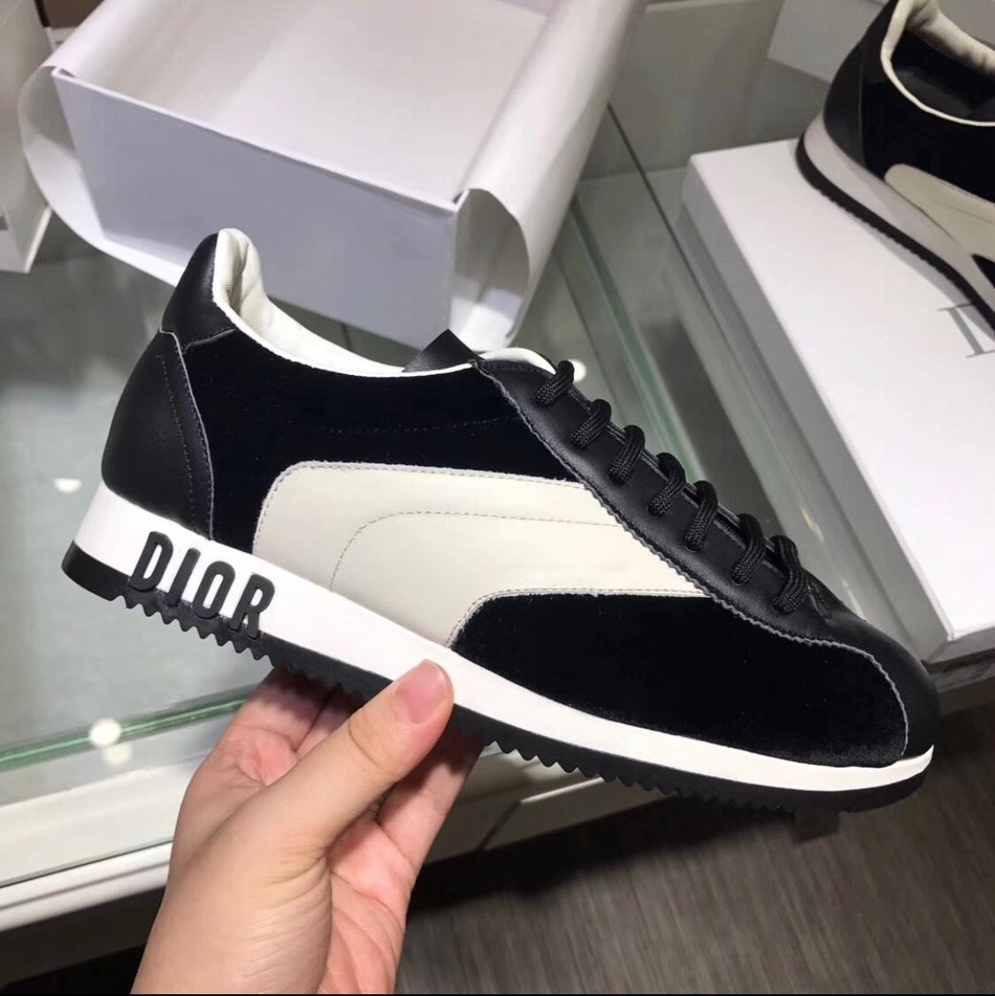 42f2f3658ce4 US 9) Regular Dior Calfskin Leather Leather Leather Sneakers Size EU 39  (Approx.