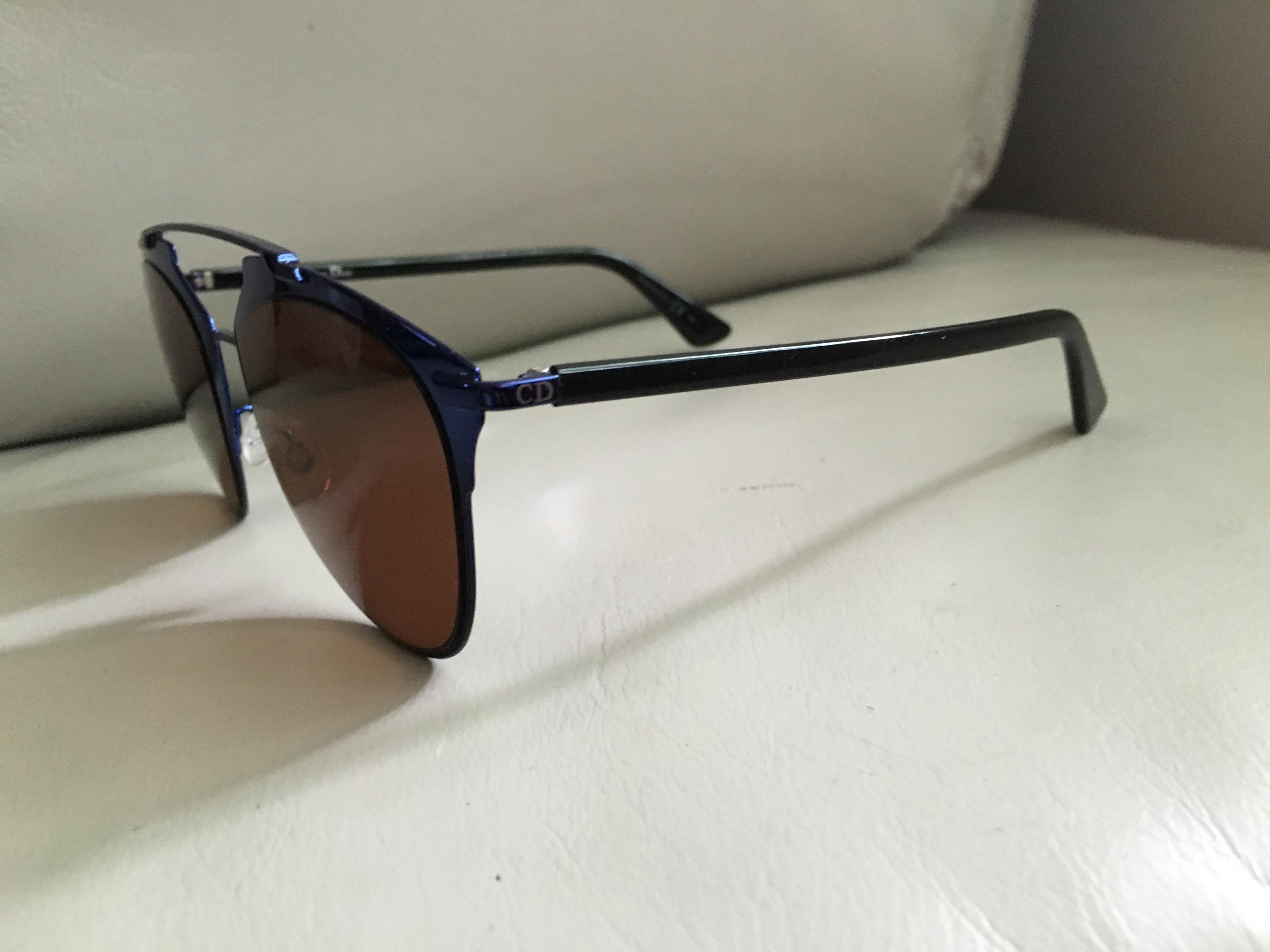 brown lens aviator sunglasses  Dior Reflected Metallic Blue Brown Lens Aviator Sunglasses - 25 ...