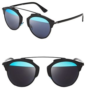 Dior Dior 'So Real' 48mm Mirrored Sunglasses Black/Blue