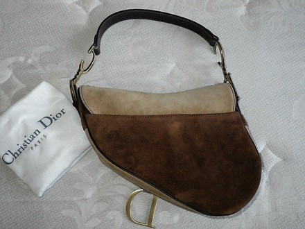 Dior Coach Louis Vuitton Dooney Bourke Chanel Rare Tote in Brown, Beige