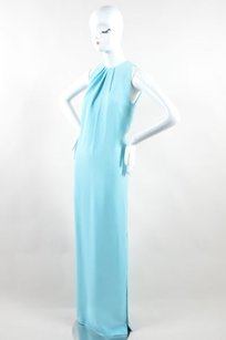 Blue Maxi Dress by Dior Christian Turquoise