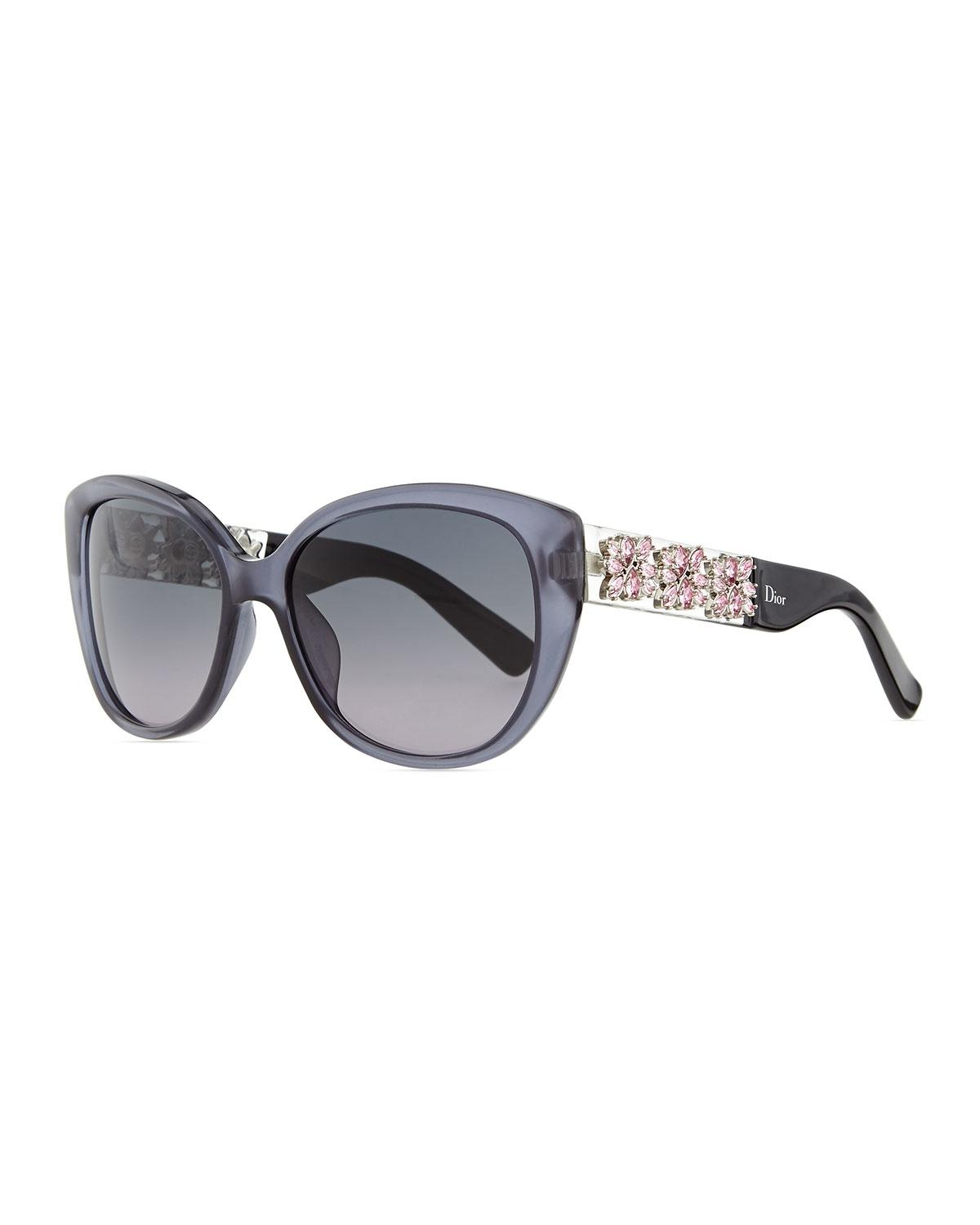 Dior Grey New Mystere Limited Edition Crystal Cat Eye ...