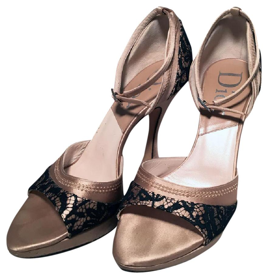 Christian Dior Satin Ankle Strap Pumps very cheap outlet with paypal marketable for sale free shipping outlet store outlet locations cheap price kpG1h699