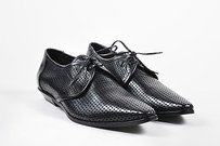Mens Christian Dior Black Leather Perforated Oxfords 42.5