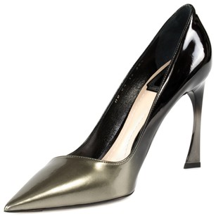 Dior Graded Patent Calfskin Black/Grey Graded Pumps