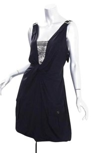 Dior short dress Black Christian Sleeveless Twist Front Bubble Hem Shift Mini 1042 on Tradesy