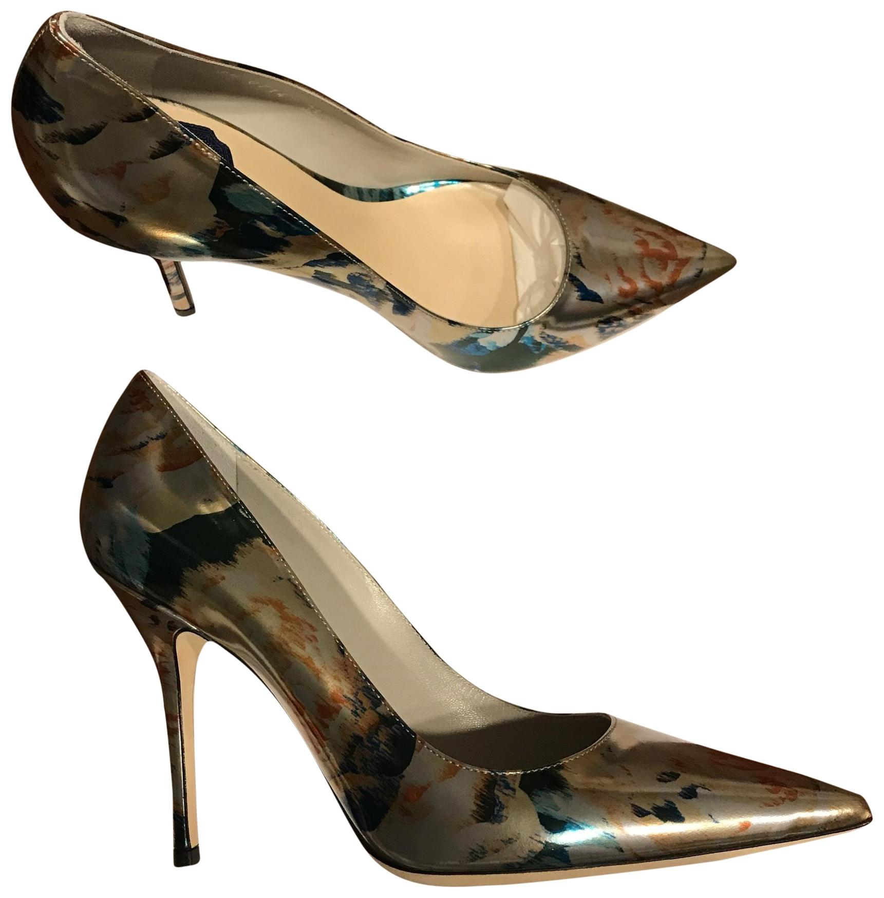 Dior Silver Multi Color Cherie Pointy Pumps Size EU 38.5 (Approx. US 8.5) Regular (M, B)