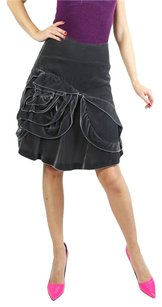 Dior Christian Silver Skirt Gray