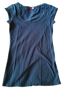 Divided by H&M Short Sleeve Tunic Length T Shirt Blue