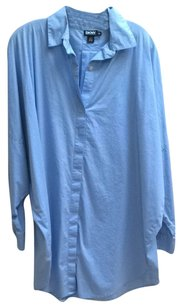 DKNY Boyfriend Shirt Button Down Shirt Blue