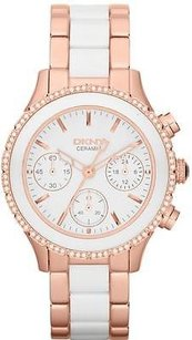 DKNY Dkny Ceramic Rose Gold Ladies Watch Ny8825
