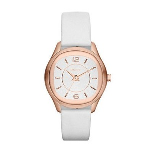 DKNY Dkny Rose Gold-tone White Leather Ladies Watch Ny8808