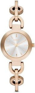 DKNY Dkny Stanhope Rose Gold-tone Chain Link Bracelet Ladies Watch Ny2135