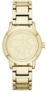 DKNY Dkny Womens Ny8876 Crosswalk Gold Tone Stainless Steel Watch
