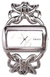 DKNY Dkny Womens Watch Ny4367 Silver Stainless Steel Wide Bracelet