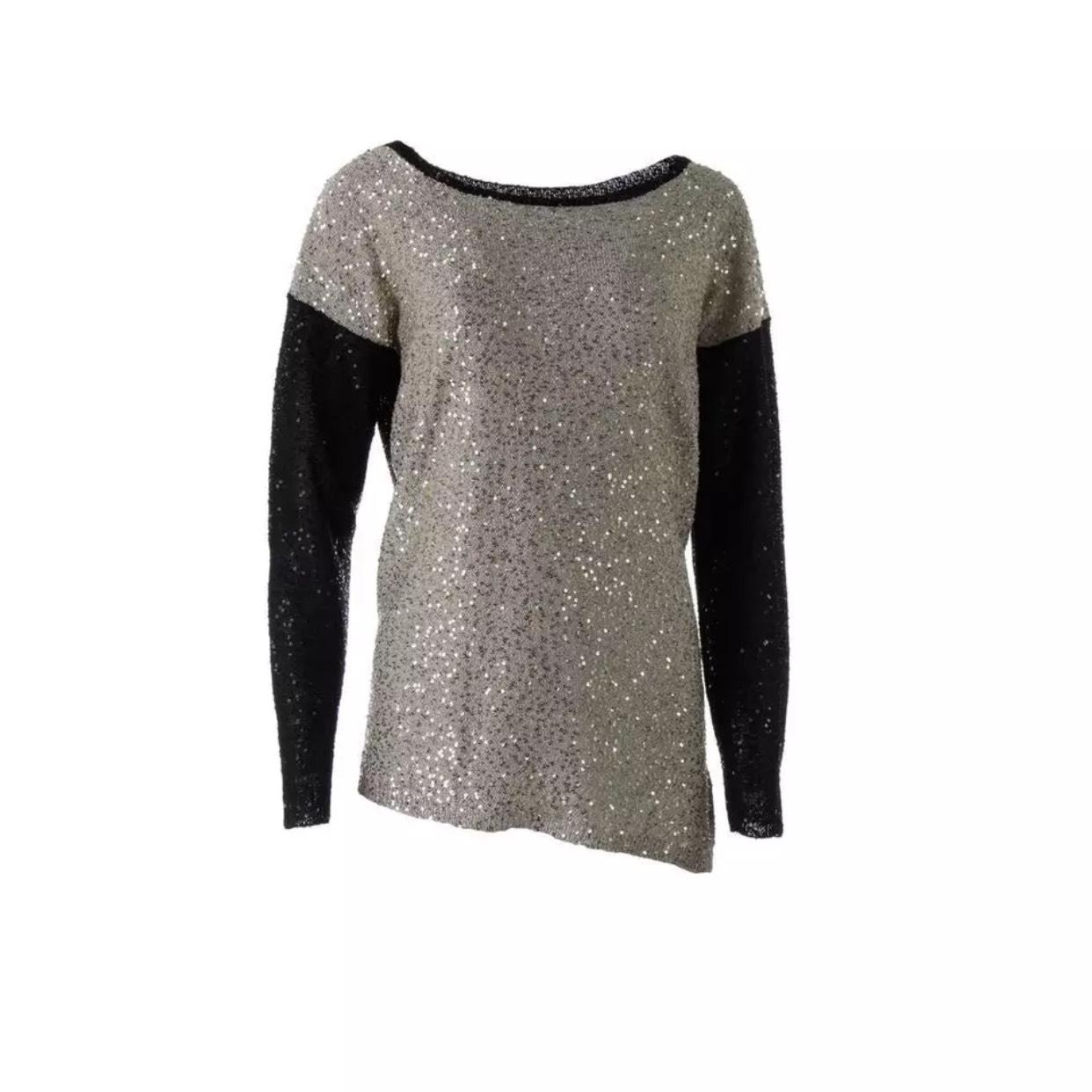 Brand New Unisex For Sale Dkny Woman Printed Stretch-knit Sweater Black Size XXS DKNY Buy Cheap Limited Edition Best Place Cheap Online Discount Eastbay Sale Low Shipping Fee eUzLkIbS
