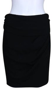 DKNY Womens Pencil Above Knee Party Solid Acetate Skirt Black