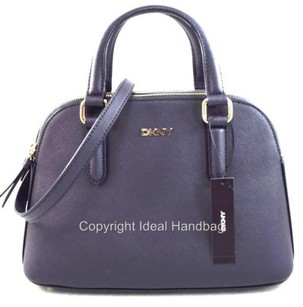 DKNY Donna Karan Leather Satchel in Gray