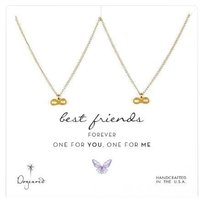Dogeared Dogeared One for You One for Me Best Friends Infinity Necklaces in Gold