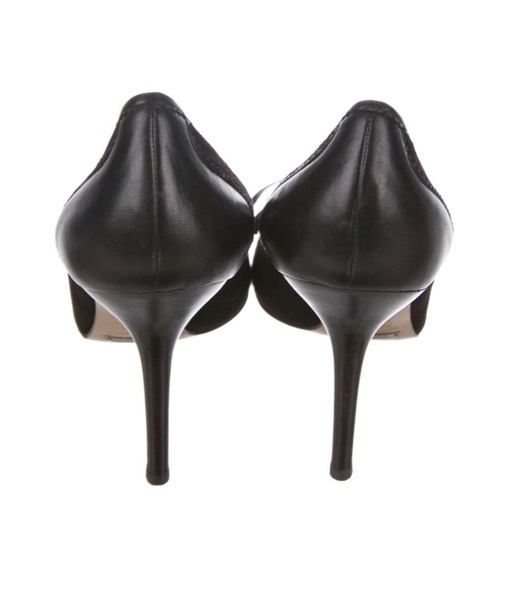"""Dolce&Gabbana Black Leather & Suede 4"""" Black/ Pointed (Approx. Pumps Size EU 39 (Approx. Pointed US 9) Regular (M, B) e957b9"""