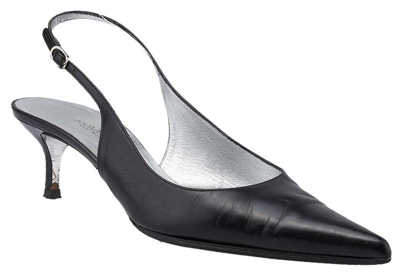 Dolce&Gabbana Black Leather Slingback 38.5 Pumps 38.5 Slingback (40032) Mules/Slides Size US 8.5 Regular (M, B) 5985c8