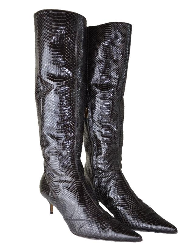 lowest price for sale for sale footlocker Dolce & Gabbana Snakeskin Pointed-Toe Boots zq042LNUF