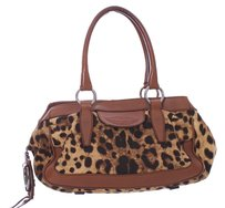 Dolce&Gabbana Leopard Canvas Leather Shoulder Bag