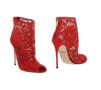 Dolce&Gabbana Lace Open Toe New Boots