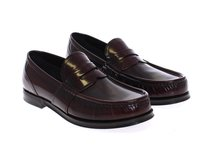 Dolce&Gabbana Nwt $620 Dolce & Gabbana Bordeaux Shiny Leather Loafers Shoes Men Shoes