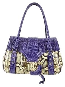 Dolce&Gabbana Dolce Gabbana Purple Satchel in Multi-Color