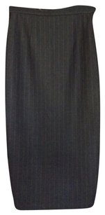 Dolce&Gabbana Pinstripe Skirt wool with lace black