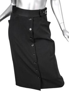 Dolce&Gabbana Pencil Straight Down Pockets 426 Skirt Black