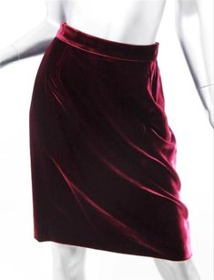 Dolce&Gabbana Dolce Gabbana Wine Burgundy Skirt Red
