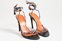 Dolce&Gabbana Dolce Gabanna Black Orange Multi-Color Sandals