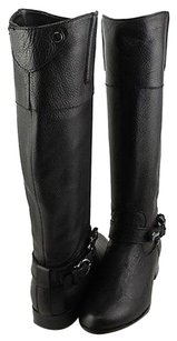 Dolce Vita Channy Leather Womens Designer Knee High Black Boots