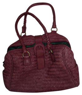 Donald J. Pliner Satchel in Deep Dusty Rose