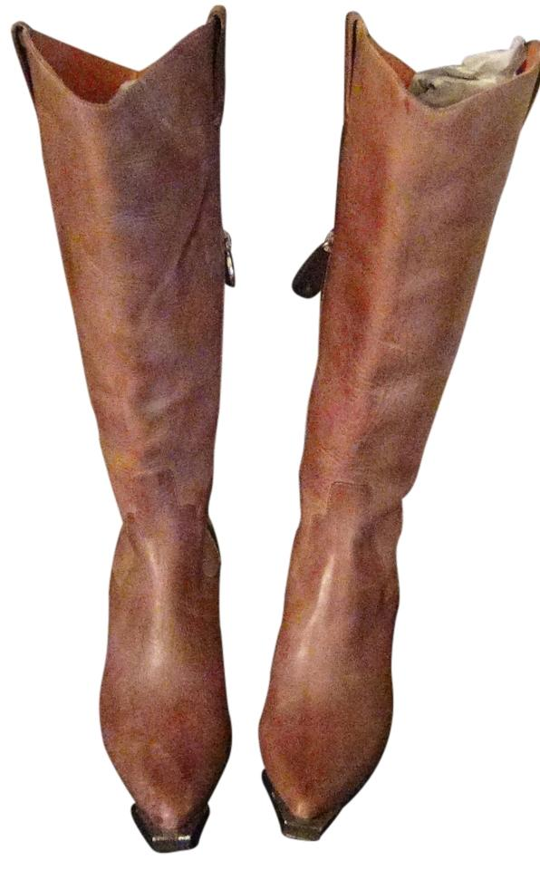 Donald J. Western Pliner Distressed Taupe Gail Western J. Couture Boots/Booties Size US 9 Regular (M, B) 6001c1