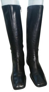 DONNA ADRIANA Leather Black Boots