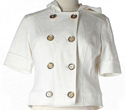 Donna Degan Chic Hardware White & Gold Jacket