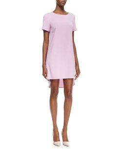 Donna Karan short dress Pink Hi Lo Crepe Shift Classic on Tradesy