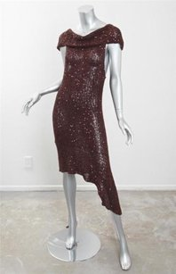 Donna Karan short dress Brown Womens on Tradesy