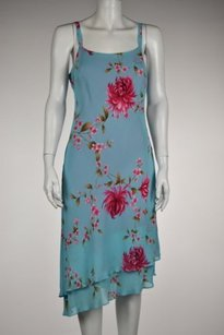 Donna Ricco Womens Blue Pink Dress