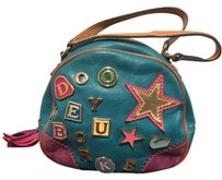 Dooney & Bourke Charm Embellished Suede Satchel in Turquoise