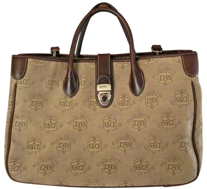 Dooney & Bourke And Large Handbag Brown Jacquard Tote Bag | Totes ...
