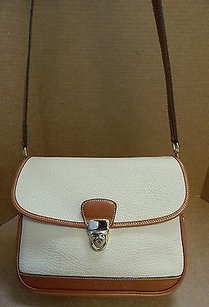 Dooney & Bourke Vintage Leather British Brown Flap Usa Cross Body Bag