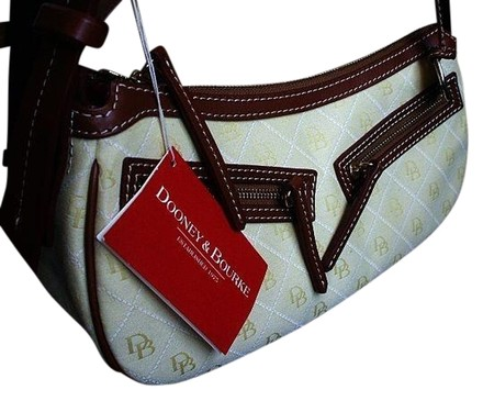Preload https://item2.tradesy.com/images/dooney-and-bourke-quilted-moon-purse-handbag-yellow-tmoro-brown-trim-signature-db-jacquard-fabric-le-726361-0-0.jpg?width=440&height=440
