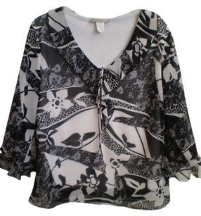 Dress Barn Top Black & White