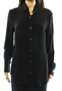 DRESSHIRT Marieclaire St. John 100% Silk Button Down Shirt Top