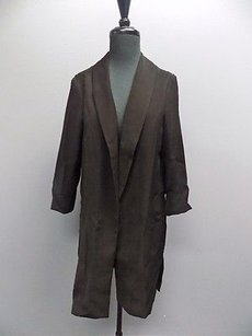 DREW Drew Black Long Sleeved Long Polyester Open Front Blazer Jacket 1377a